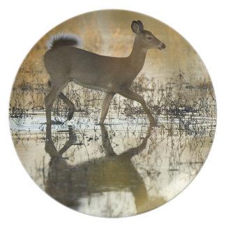 Deer Shadow Melamine Plate