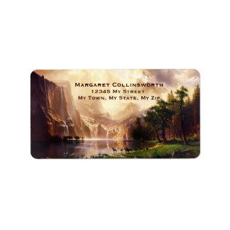 Deer Sierra Mountains 1868 Vintage Address Label