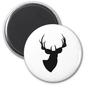 Deer Silhouette 2 Inch Round Magnet
