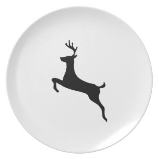 Deer Silhouette Dinner Plate