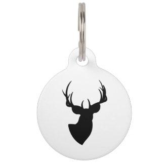 Deer Silhouette Pet ID Tag