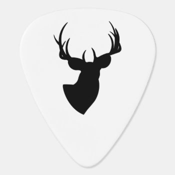 Deer Silhouette Guitar Pick by silhouette_emporium at Zazzle