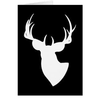 Deer Silhouette Happy Birthday Card