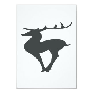 Deer Silhouette Personalized Invites