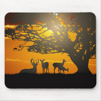 Deer Silhouette Mouse Pad