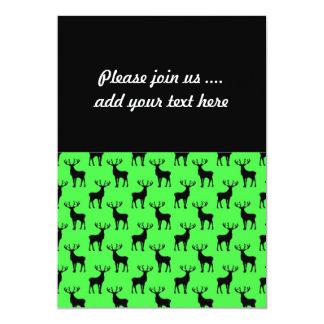 Deer Silhouette on Vivid Green Card