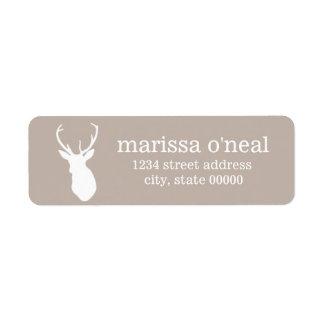 Deer Silhouette Return Address Labels