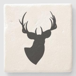Deer Silhouette Stone Coaster