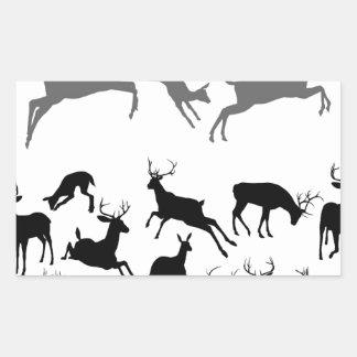 Deer Silhouettes Rectangular Stickers