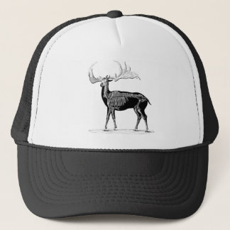 Deer skeleton trucker hat
