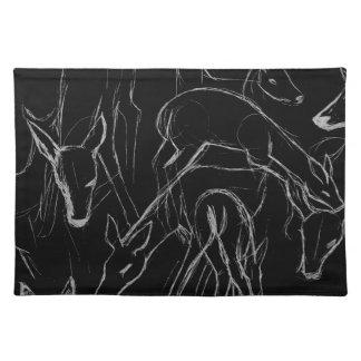 Deer Sketch Cloth Placemat
