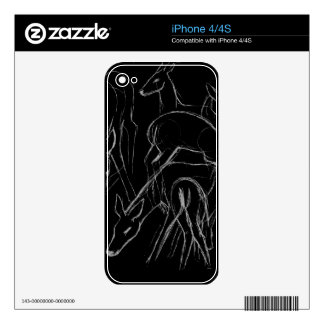 Deer Sketch Skin For The iPhone 4