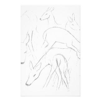 Deer Sketch Stationery