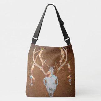 Deer Skull Antlers Native American Southwest Tote Bag