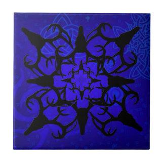 Deer Skull design in blue Tiles
