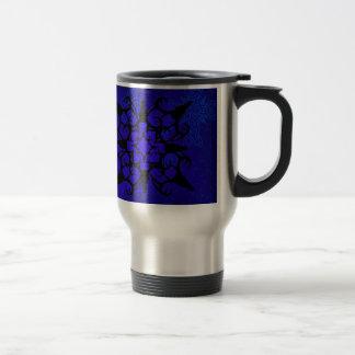 Deer Skull design in blue Travel Mug