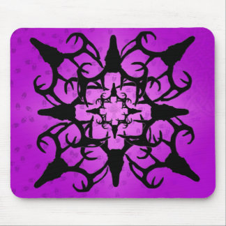 Deer Skull Design in Purple and black Mouse Pad