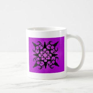 Deer Skull Design in Purple and black Mugs