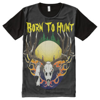 Deer skull in flames All-Over-Print shirt
