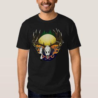 Deer skull in flames shirts