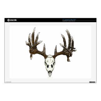 Deer skull laptop skin