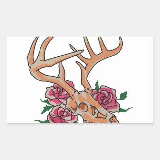 Deer Skull Smaller Rectangular Sticker