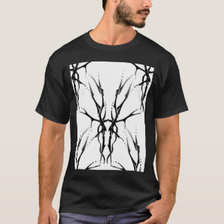 Deer Skull Tribal Tattoo Digital Collage T-Shirt