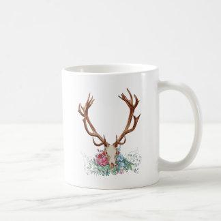 Deer Skull With Flowers 2 Coffee Mug