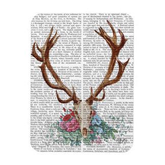 Deer Skull With Flowers 2 Magnet