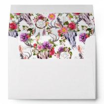 Deer Skulls, Flowers & Dream Catchers -  Wedding Envelope