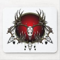 Deer skulls mouse pad