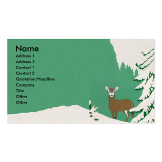 Deer Snow Winter Scene Double-Sided Standard Business Cards (Pack Of 100)