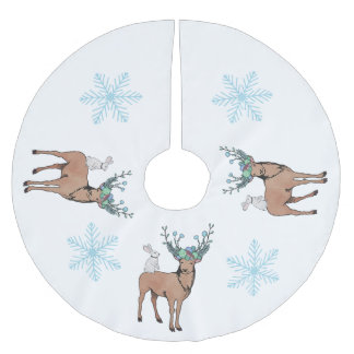 Deer Snowflake Tree Skirt