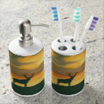 Deer soap dispenser and toothbrush caddy