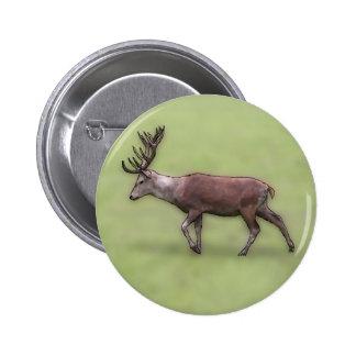 Deer Stag, Digital Art. 2 Inch Round Button