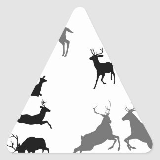 Deer stag fawn and doe silhouettes sticker