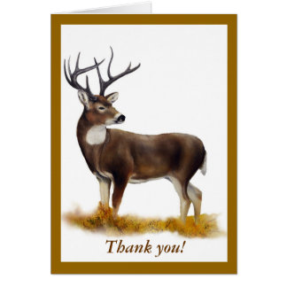 Deer standing alone on customizable products card