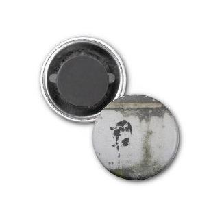 Deer Stencil 1 Inch Round Magnet