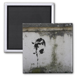 Deer Stencil 2 Inch Square Magnet