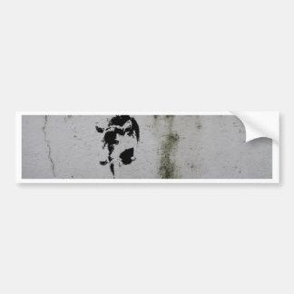 Deer Stencil Bumper Sticker