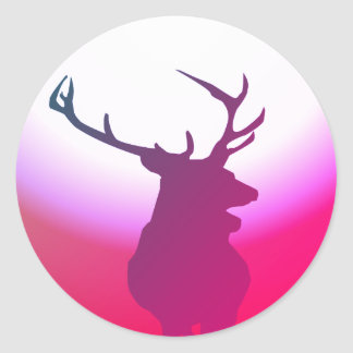 Deer sticker Pink