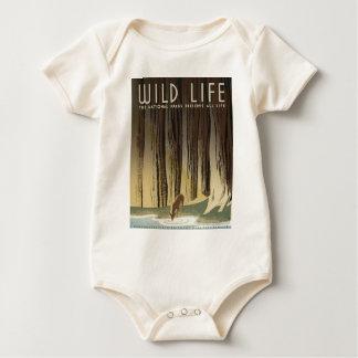 Deer & Stream Baby Bodysuit