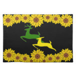Deer Sunflowers Placemat