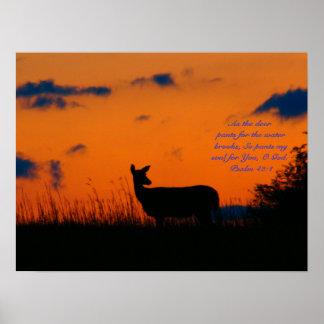 Deer Sunset Print