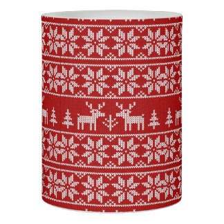 Deer Sweater Pattern Flameless Candle