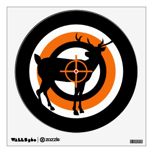 deer target wall decal zazzle. Black Bedroom Furniture Sets. Home Design Ideas