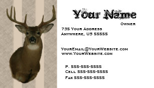 Taxidermy business cards templates zazzle deer taxidermy business cards colourmoves