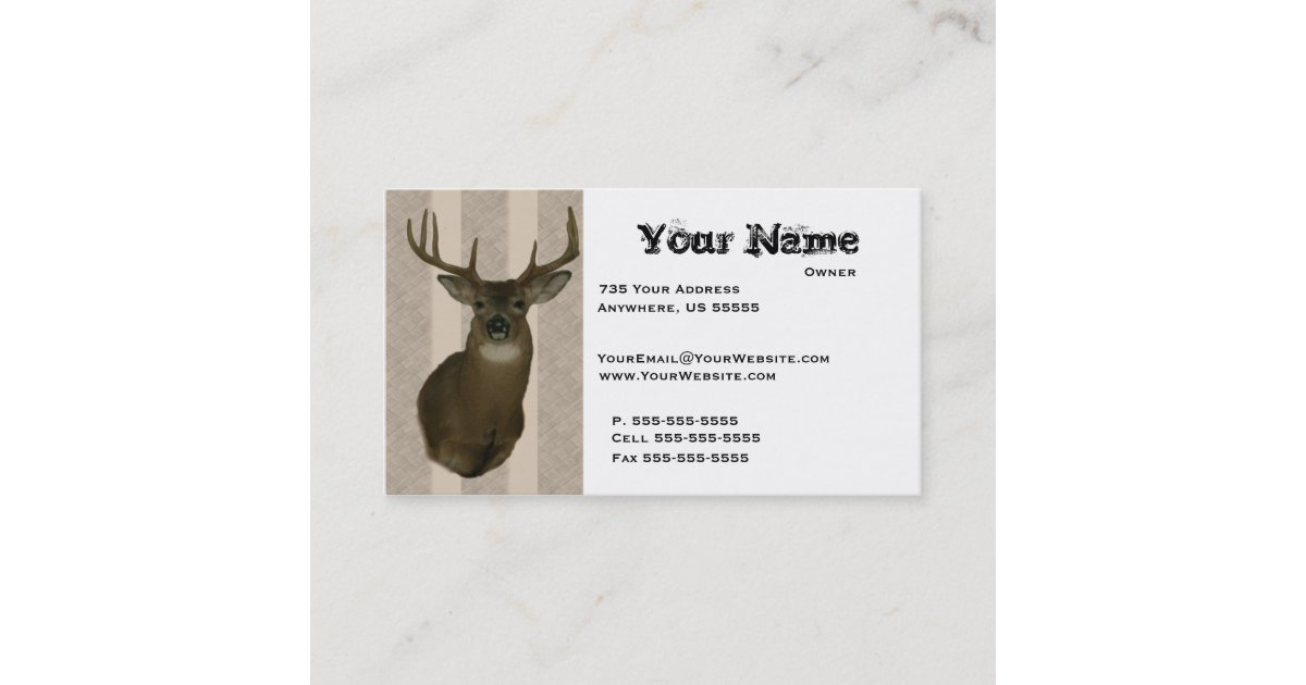 Deer Taxidermy Business Cards | Zazzle.com