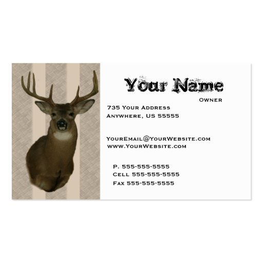 Taxidermy business card templates bizcardstudio deer taxidermy business cards colourmoves