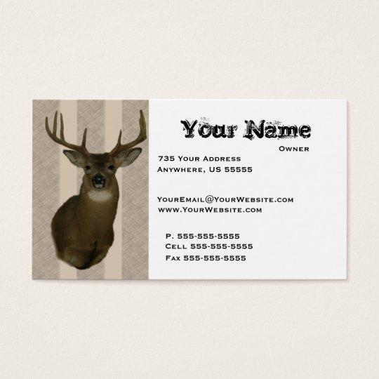 Deer taxidermy business cards zazzle deer taxidermy business cards colourmoves